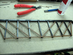 Steel wire Bracing Rods added to the truss