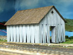 The Completed tobacco barn model