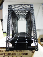 The completed Whipple truss bridge