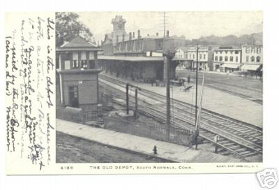 Postcard Depicting the South Norwalk passenger station of 1892.